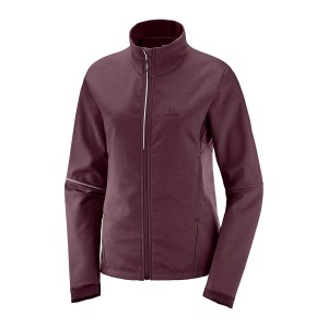 Kurtka Salomon Agile Softshell W Winetasting/Heather