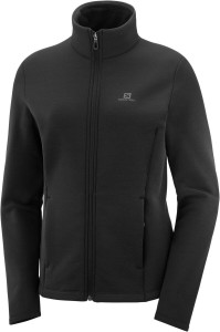 Bluza Salomon Radiant Full Zip Midlayer Black