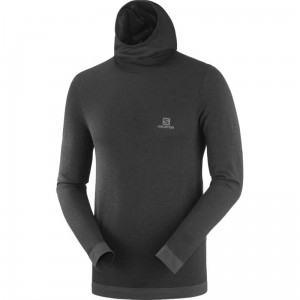 Bluza Salomon Outpeak Wool Black/ Heather