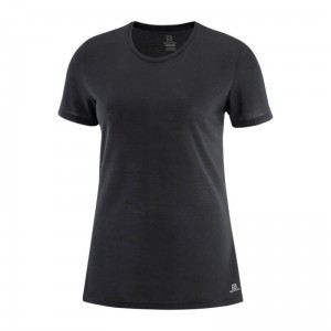 Koszulka Salomon Comet Short Sleeve W Black/ Heather