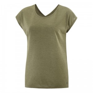 Koszulka Salomon Comet Shaped Tee W Martini Olive / Heather