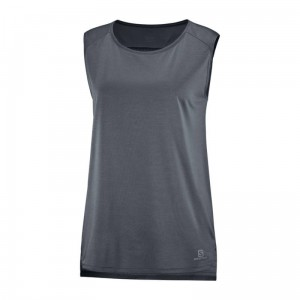 Koszulka Salomon Outline Summer Tank W Ebony