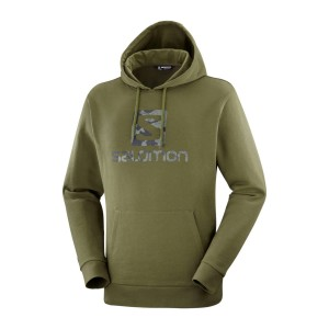 Bluza Salomon Outlife Pullover Hoody Olive Night