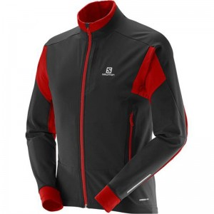 Kurtka Salomon Momentum Softshell Blk/Red 16/17