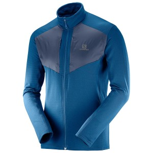 Bluza Salomon Grid FZ Mid Poseidon/Night Sky
