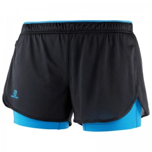 Spodenki Salomon Agile 2in1 Short W Black/Blithe