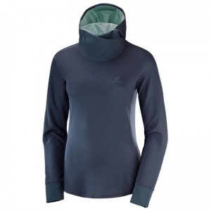 Bluza Salomon Agile LS Hoodie W Grey Heather