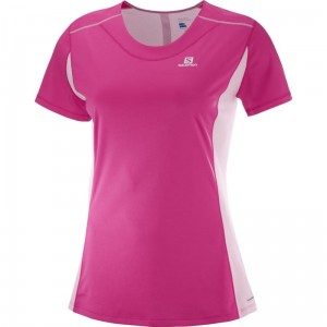 Koszulka Salomon Agile Heather W Pink