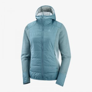 Bluza Salomon Right Nice Hybrid Hoodie W Smoke Blue