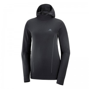 Bluza Salomon Essential Seamless Hoodie Black/Ebony