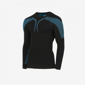 Bluza Gatta Thermo Plus Matt Black/Light Navy