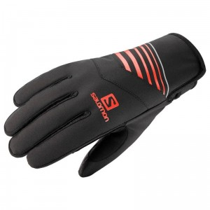 Rękawice Salomon RS Warm Universal Black/Fiery Red