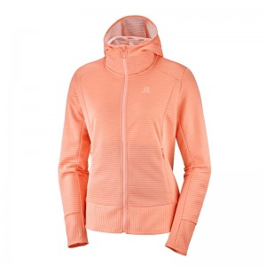 Bluza Salomon Right Nice Mid Hoodie W Papaya