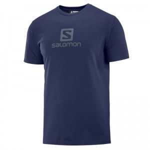 Koszulka Salomon Coton Logo Tee Night Sky