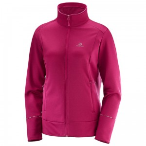 Bluza Salomon Discovery FZ W Cerise Heather