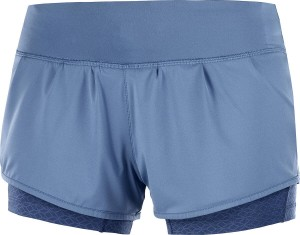 Spodenki Salomon Elevate Aero Short W Copen Blue/Dark Denim