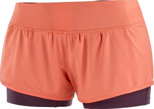 Spodenki Salomon Elevate Aero Short W Camellia / Winetasting