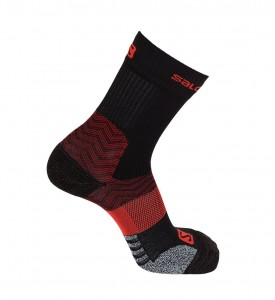 Skarpety Salomon Outpath Mid Black/ Fiery Red