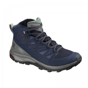 Buty Salomon Outline Mid GTX Medieval Blue