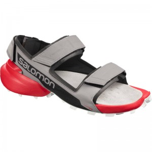 Sandały Salomon Speedcross Sandal Alloy/Black/Hight Risk Red