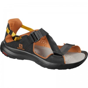 Sandały Salomon Tech Sandal  Black/Carmel Cafe/Arrowwood