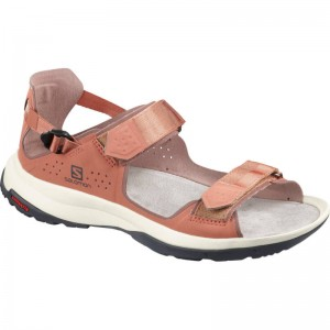 Sandały Salomon Tech Sandal Fell W Cedar Wood/Peppe