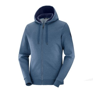 Bluza Salomon Shift FZ Hoodie Dark Denim/Heather