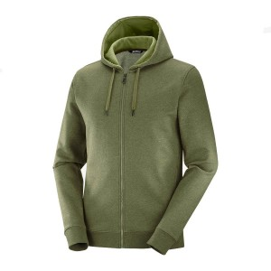 Bluza Salomon Shift FZ Hoodie Olive Night/Heather