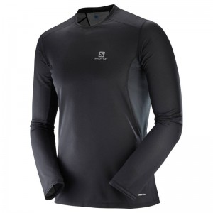 Koszulka Salomon Trail Runner LS Black