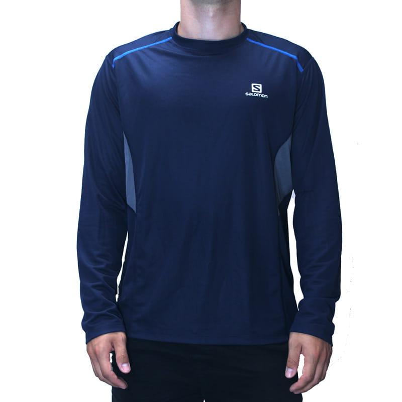 Koszulka Salomon Trail Runner LS Tee Big Blue X